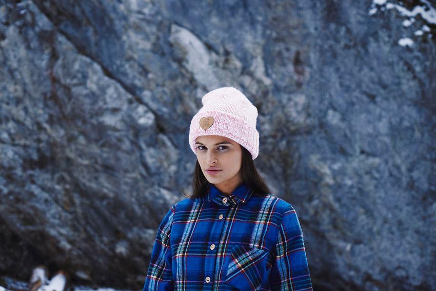 Femi Pleasure — dámská hřejivá košile s dlouhým rukávem, kostkovaná, modrá — dámské oblečení podzim/zima — fall/winter 2015