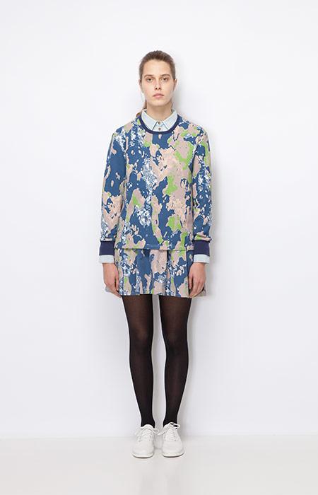 Ucon Acrobatics — barevná mikina se vzorem, dámská — sukně se vzorem — dámské oblečení podzim/zima 2015