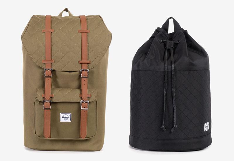 Batohy a tašky Herschel Supply — plátěné prošívané — kolekce Quilted