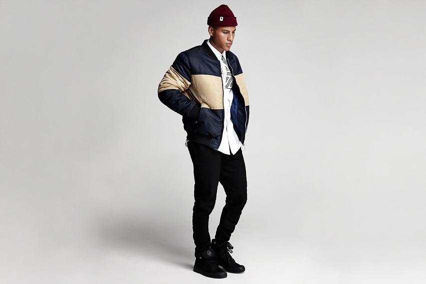 Daily Paper — pánský bomber, modro-béžový — podzimní/zimní oblečení 2015