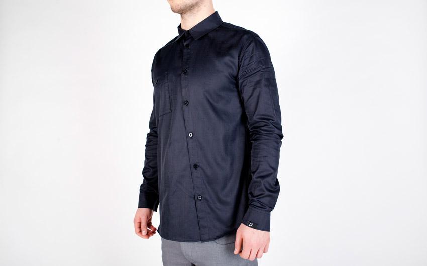 Pattern — pánská košile s dlouhým rukávem — modrá