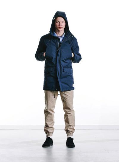Wemoto — pánská modrá parka — zimní bunda s kapucí — podzim/zima 2015