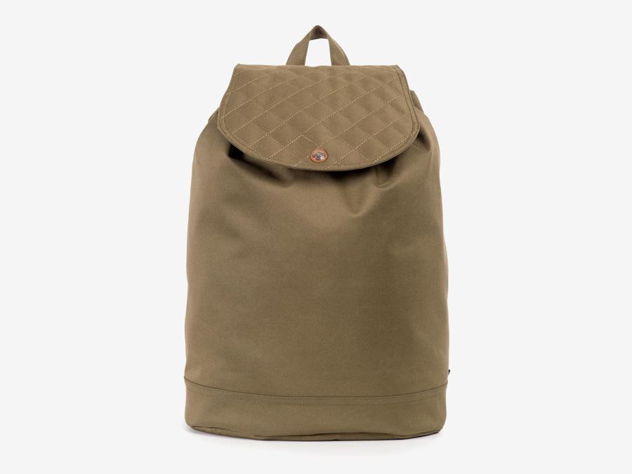 Batoh Herschel Supply — Reid Backpack — plátěný batoh — hnědý-zelený, army, prošívaný — kolekce Quilted