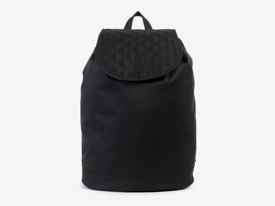 Batoh Herschel Supply — Reid Backpack — plátěný batoh — černý, prošívaný — kolekce Quilted