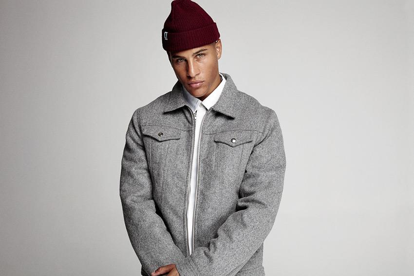 Daily Paper — krátká bunda do pasu z vlny, pánská, šedá — podzimní/zimní oblečení 2015