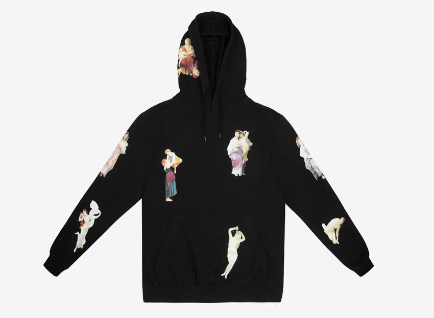 Silent — mikina s potiskem a kapucí — černá — pánská, dámská — Bouguereau