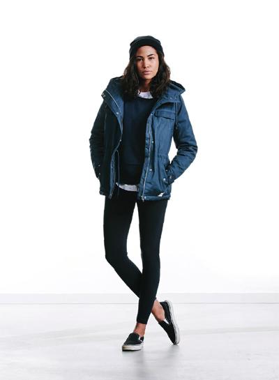 Wemoto — dámská zimní bunda s kapucí — modrá — podzim/zima 2015