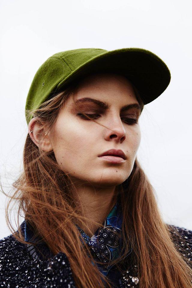 Paris+Hendzel — dámská hřejivá zimní kšiltovka, zelená pětipanelka, 5 panel, headwear