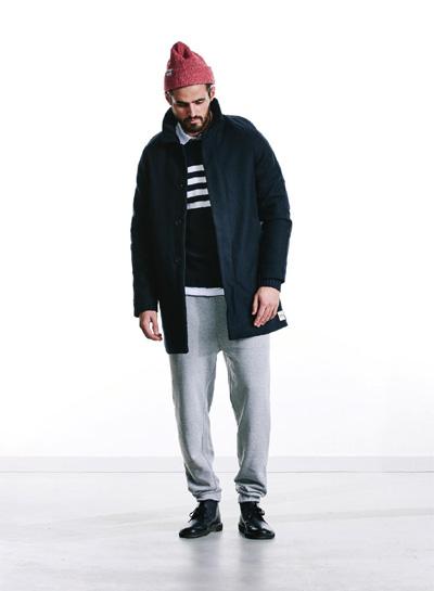 Wemoto — černý zimní kabát se stojáčkem — pánský — podzim/zima 2015