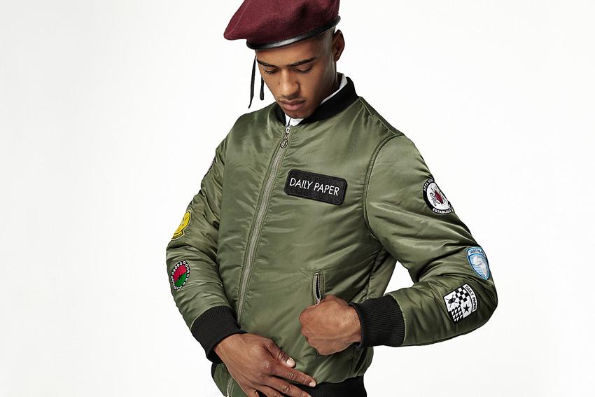 Daily Paper — zelený army bomber, pánský — podzimní/zimní oblečení 2015