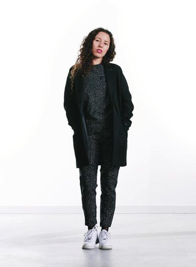 Wemoto — dámský vlněný kabát se stojáčkem — černý — podzim/zima 2015