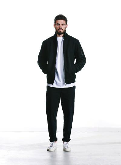 Wemoto — podzimní bunda do pasu, černá — pánská — podzim/zima 2015