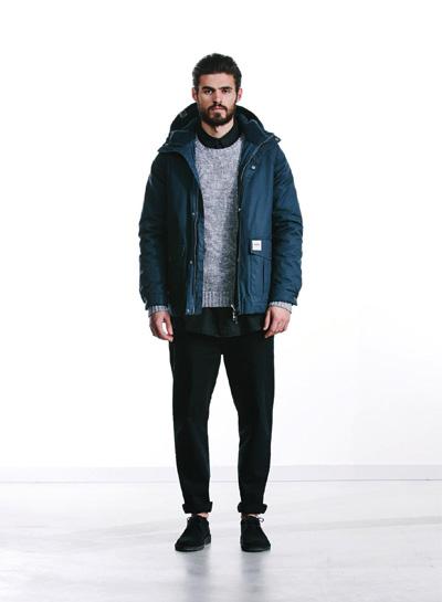 Wemoto — pánská bunda do pasu s kapucí — modrá — podzim/zima 2015