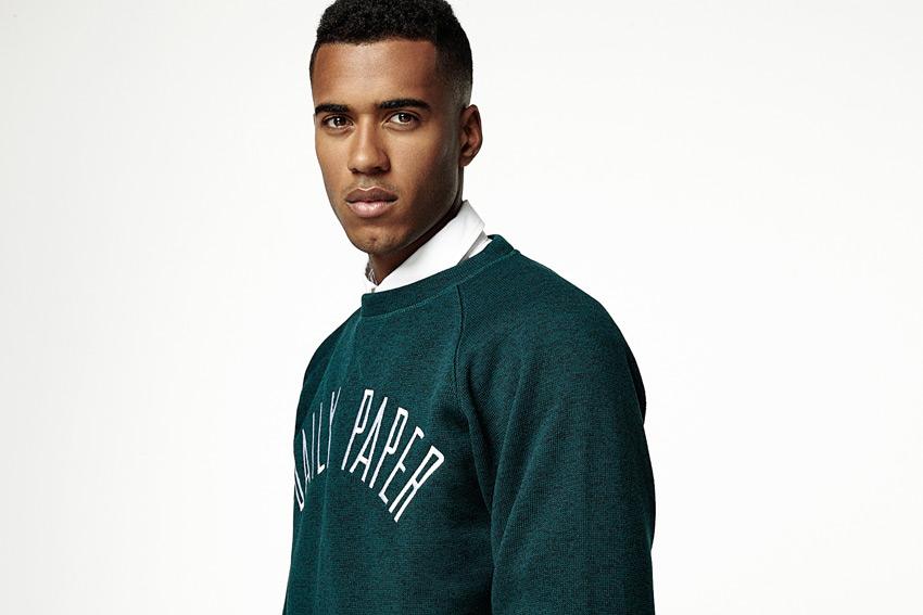 Daily Paper — melírový svetr, pánský, zelený — podzimní/zimní oblečení 2015