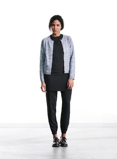 Wemoto — dámský krátký svetr na zip, bomber kardigan — šedý melír — podzim/zima 2015