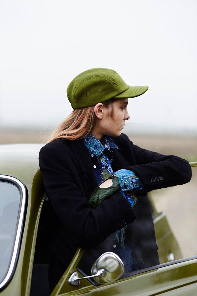 Paris+Hendzel — dámská zimní kšiltovka, zateplená zelená pětipanelka, 5 panel, headwear