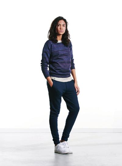 Wemoto — dámský vzorovaný svetr — modro-fialový — podzim/zima 2015