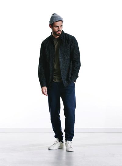 Wemoto — podzimní černá bunda bez kapuce — pánská — podzim/zima 2015