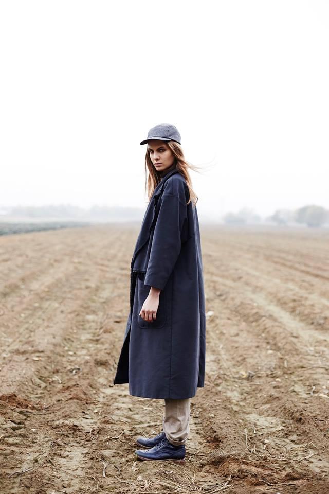 Paris+Hendzel — modro-šedá pětipanelka, zateplená kšiltovka, headwear
