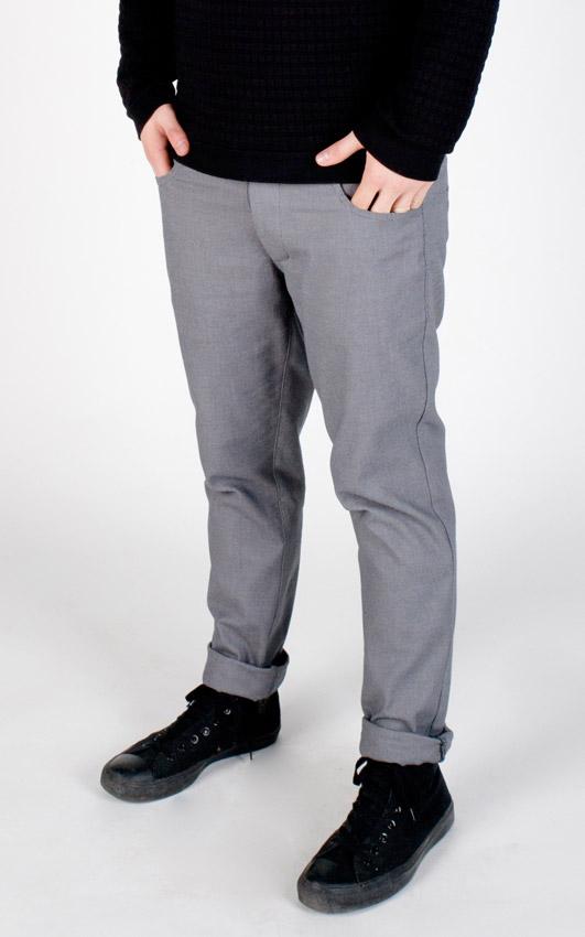 Pattern — šedé kalhoty — pánské