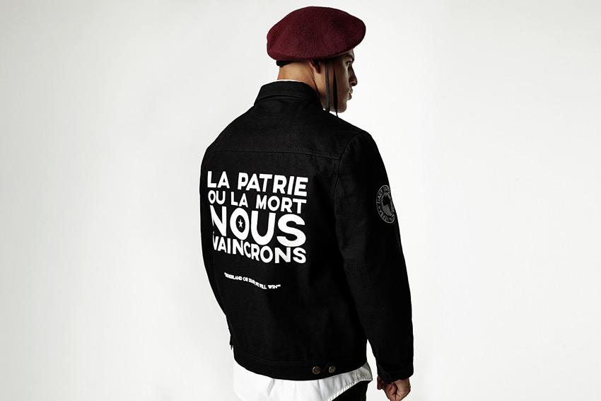 Daily Paper — krátká černá bunda z bavlny, pánská — podzimní/zimní oblečení 2015