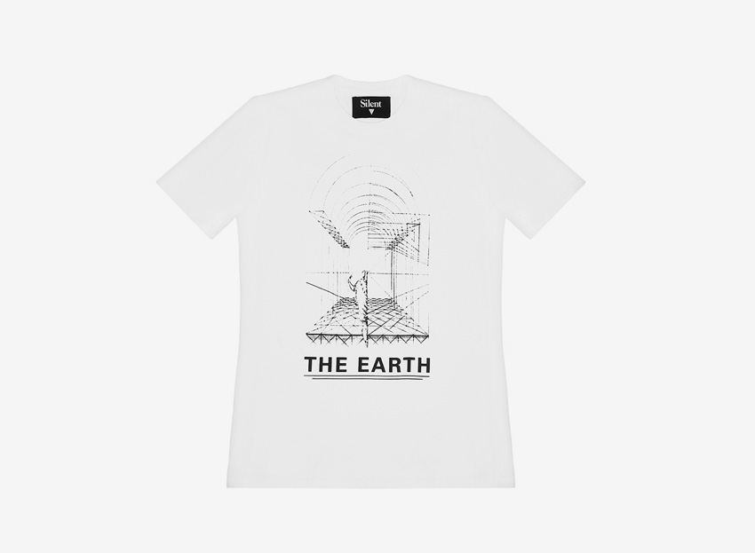 Silent — tričko s potiskem — bílé — pánské, dámské — The Earth