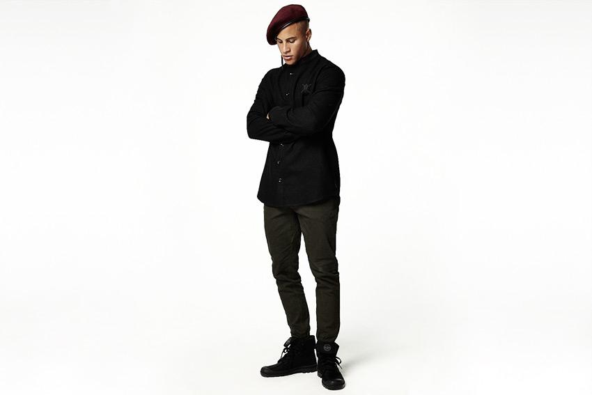 Daily Paper — černá košile s dlouhými rukávy — podzimní/zimní oblečení 2015
