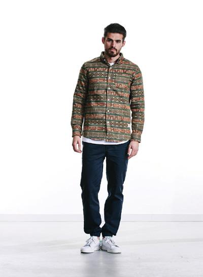 Wemoto — barevná košile se vzory, dlouhý rukáv — pánská — podzim/zima 2015