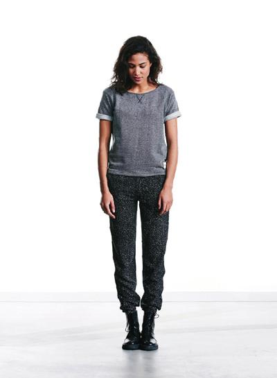 Wemoto — dámské šedé tričko — dámské šedé kalhoty, melírové — podzim/zima 2015