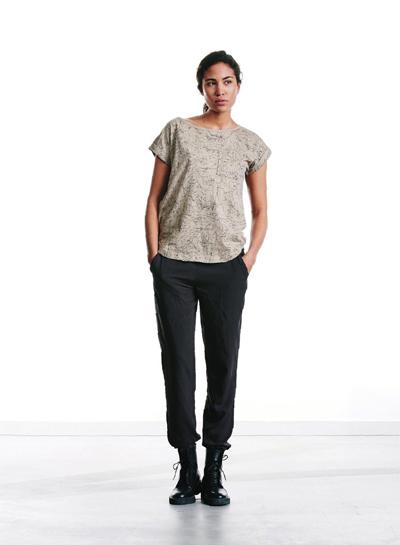 Wemoto — dámské tričko s kapsičkou a kresbami — podzim/zima 2015