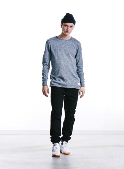 Wemoto — pánské tričko s dlouhým rukávem — šedý melír — podzim/zima 2015
