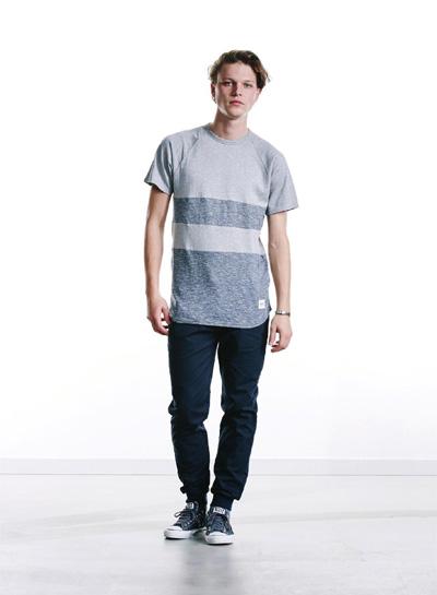 Wemoto — pánské šedé tričko — melír — podzim/zima 2015