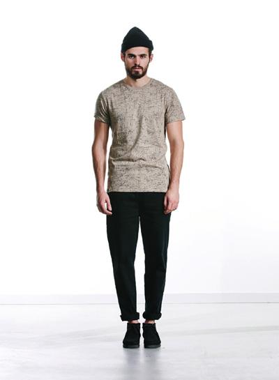 Wemoto — béžové tričko s potiskem — pánské — podzim/zima 2015