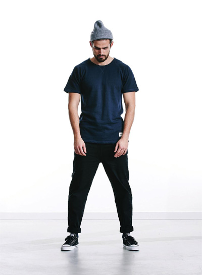 Wemoto — modré tričko s krátkým rukávem — pánské — podzim/zima 2015