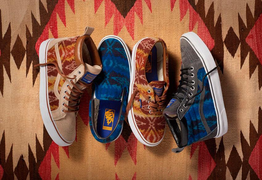 Vans x Pendleton — boty z ovčí vlny s indiánskými vzory