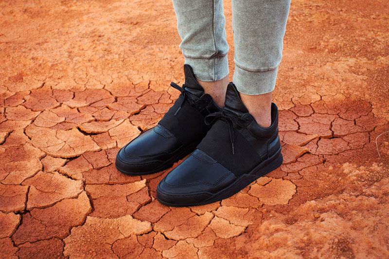 Filling Pieces — černé boty, kotníkové tenisky, sneakers — pánské, dámské — lookbook – jaro/léto 2016