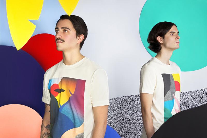 MAMAMA — krémová trička s potisky, abstrakce — kolekce COP21