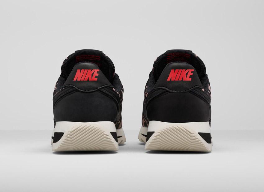 Liberty London x Nike Cortez Epic Tan Cameo Maxi Print — boty se vzorem, světle hnědé, černé — dámské tenisky, sneakers
