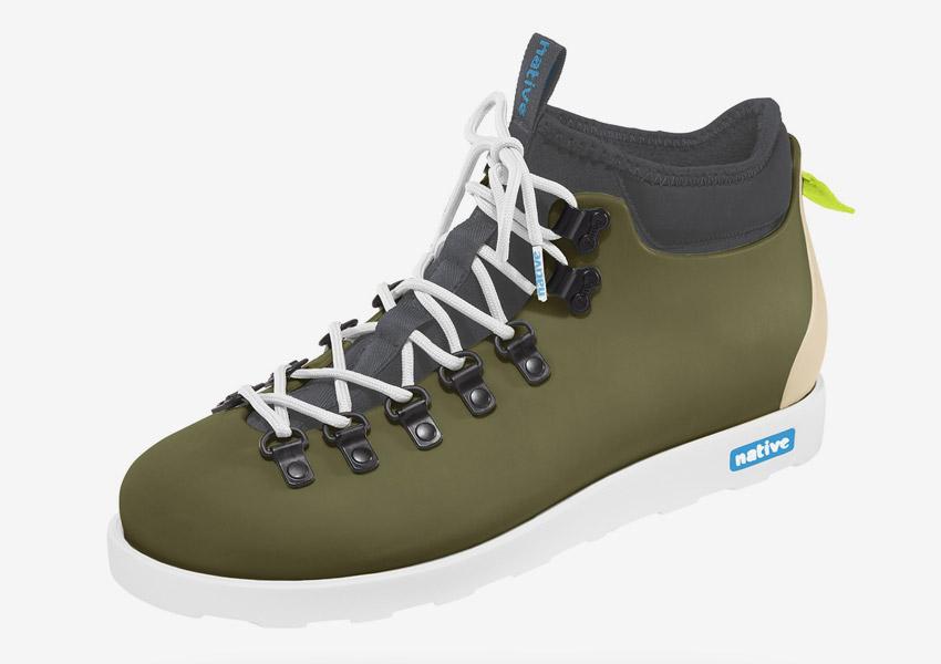 Native Shoes — zimní boty, pohorky, zelené (army green), plastové, voděodolné — pánské, dámské — Fitzsimmons
