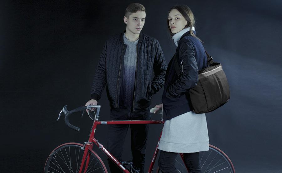 PX — Invisible Messenger — taška přes rameno, černá, nylonová — voděodolná, nepromokavá