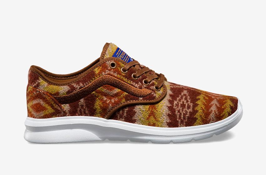 Vans x Pendleton — Iso 2 — vlněné boty se vzory, zateplené tenisky — béžové, hnědé — dámské, pánské