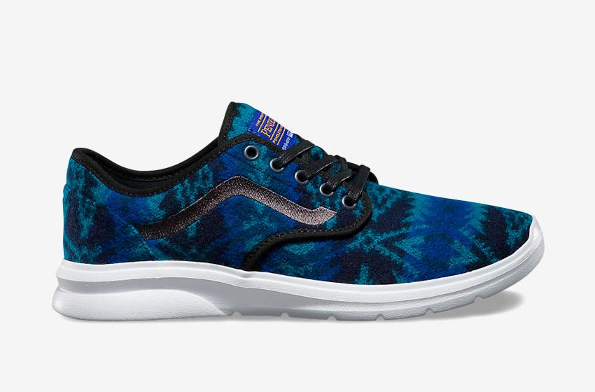 Vans x Pendleton — Iso 2 — vlněné boty se vzory, zateplené tenisky — modré — dámské, pánské