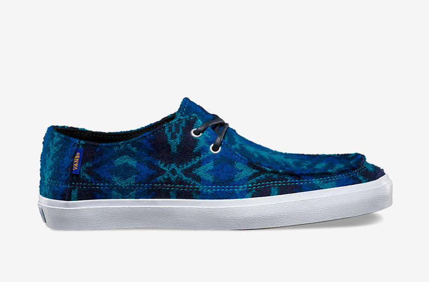 Vans x Pendleton — Rata Vulc SF — zateplené nízké boty — modré — dámské, pánské