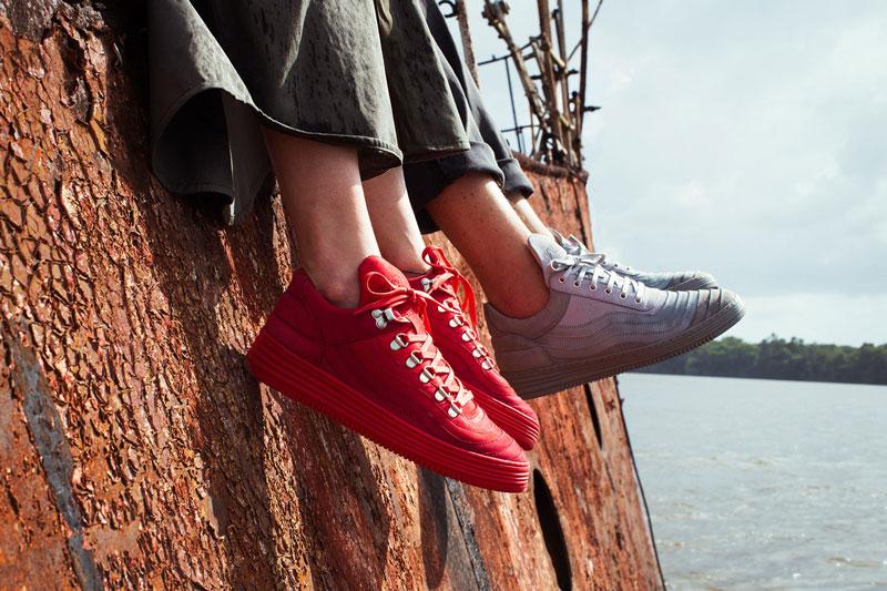Filling Pieces — červené a šedé boty, tenisky, sneakers — pánské, dámské — lookbook – jaro/léto 2016
