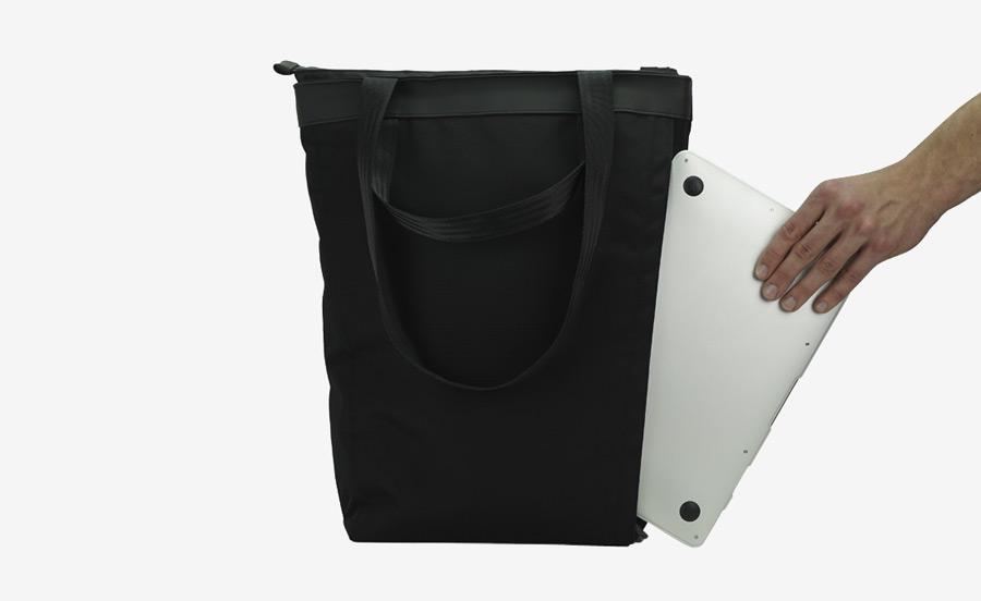 PX — Invisible Tote — úzká vysoká nákupní taška — nepromokavá (voděodolná), nylonová