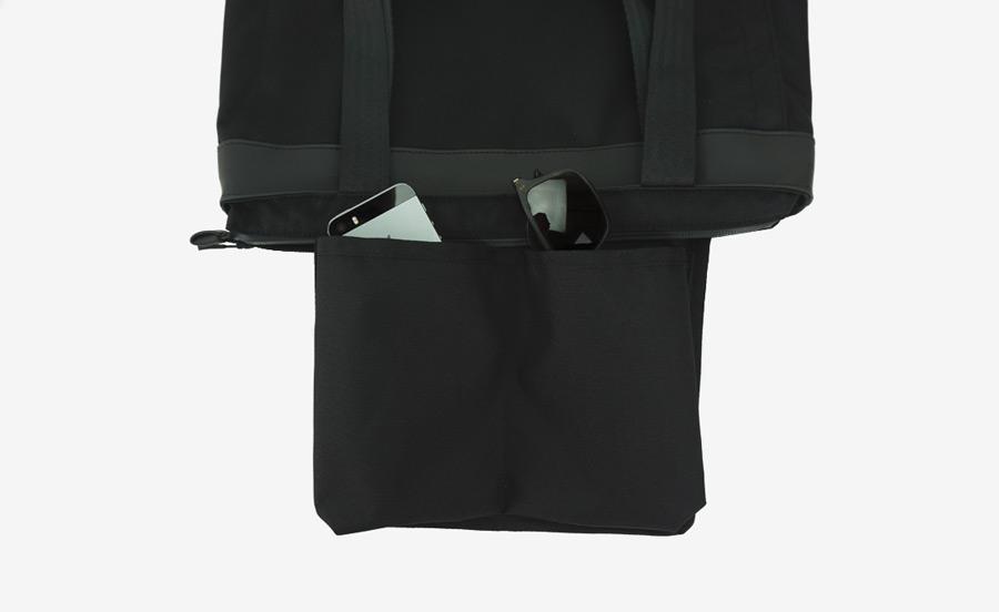 PX — Invisible Tote — taška, nákupní, městská, úzká, vysoká — nepromokavá (voděodolná), nylonová
