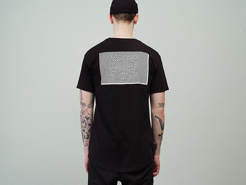 Zirkus Zirkus — Nomads — černé tričko s potiskem na zádech, pánské, dámské, black t-shirt — podzim/zima 2015