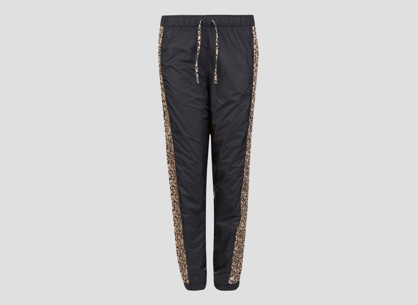Liberty London x Nike Sweatpants Tan Cameo Mini Print — dámské tepláky, černé, světle hnědý vzor