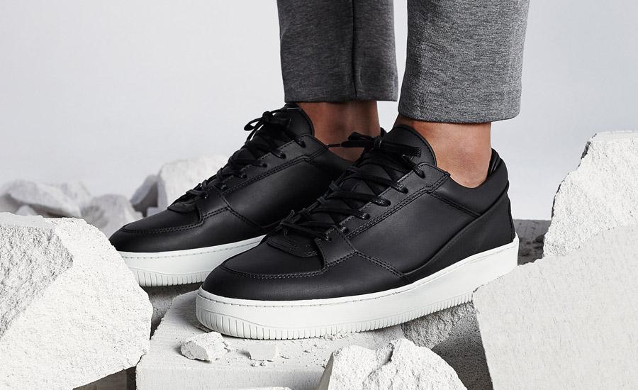 ETQ Amsterdam — Low 3 — luxusní boty, kožené tenisky, sneakers — černé — pánské, dámské, unisex — lookbook jaro/léto 2016