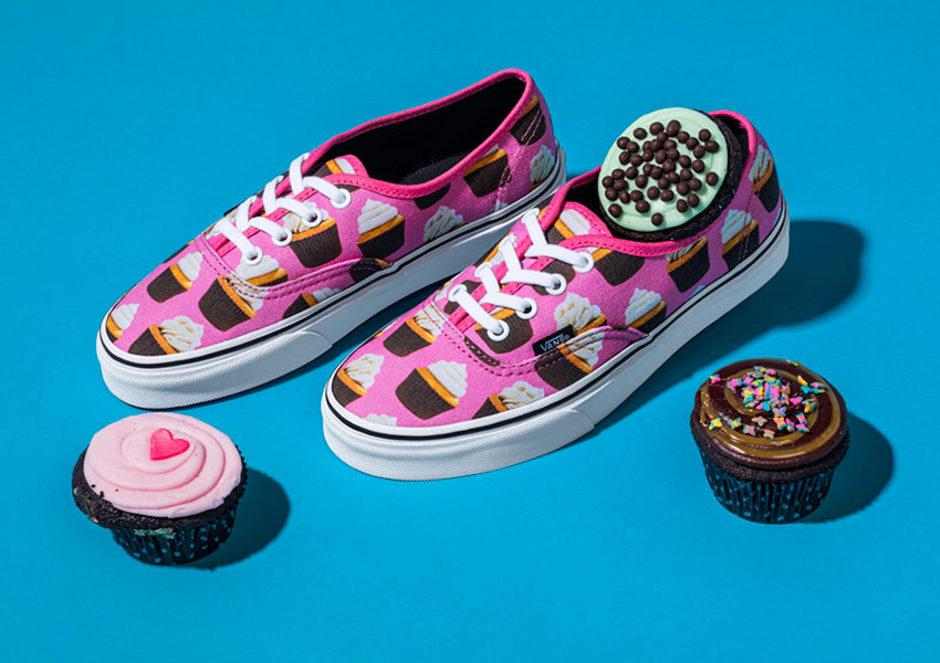Vans Late Night Pack — boty Authentic — Hot Pink/Cupcakes — růžové